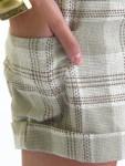 Plaid Linen Shorts