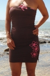 Brown Plumeria Dress (3)